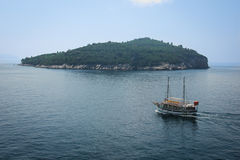 Dalmatian coast. lokrum island. Dubrovnik. Croatia Royalty Free Stock Photography