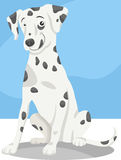 Dalmatian dog cartoon illustration Stock Image