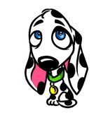 Dalmatian dog cartoon illustration Stock Photos