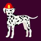Dalmatian in the fair cask. Cartoon vector royalty free illustration