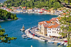 Dalmatian fisherman village of Novigrad Stock Photos
