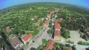 Dalmatian hinterland, aerial shot stock video