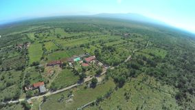 Dalmatian hinterland, aerial shot stock video footage