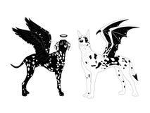 Dalmatian and marble mastiff. Stock Photos