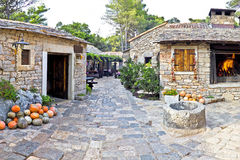Dalmatian old  stone village street Stock Photography