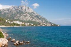 Dalmatian stad Gradac Royaltyfri Fotografi