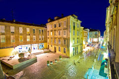 Dalmatian town of Zadar stone square Stock Images