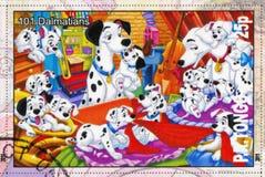 101 Dalmatians. TONGO - CIRCA 2011: stamp printed by Tongo, shows Walt Disney cartoon character, 101 Dalmatians, circa 2011 stock images