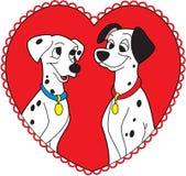 Dalmatier love romantic illustration Stock Image