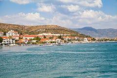 Dalmatinische Küstenlinie, Trogir, Kroatien Lizenzfreie Stockfotos