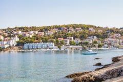 Dalmatinische Küstenlinie, Trogir, Kroatien Lizenzfreie Stockfotografie
