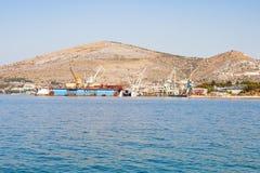 Dalmatinische Küstenlinie, Trogir, Kroatien Lizenzfreies Stockbild