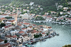 Dalmatinische Stadt stockfoto