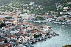 Dalmatische stad Stock Foto