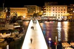 Dalmatische stad van Zadar havenbrug Stock Afbeelding
