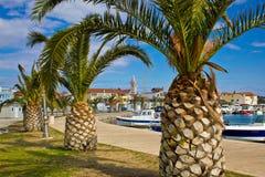 Dalmatyński miasteczko Pakostane nabrzeże zdjęcia royalty free