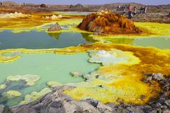 Dalol öken i Etiopien royaltyfria bilder
