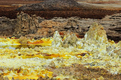 Dalol volcanic activity Stock Photos