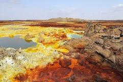 Dalol volcanic activity Stock Images