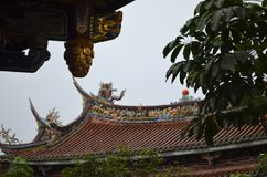 Dalongdong Baoan Temple en Taipei Foto de archivo