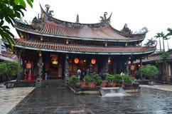 Dalongdong Baoan Temple en Taipei Fotografía de archivo libre de regalías