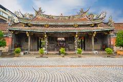 Dalongdong Baoan Temple i Taipei, Taiwan Royaltyfri Foto