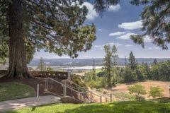 Dalsikt från Mt Angel Abbey grundar Oregon Royaltyfri Fotografi