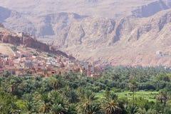 Dalsikt i Marocko, Afrika Royaltyfria Bilder