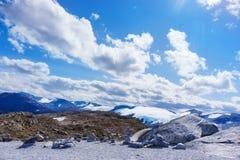 Dalsnibba和冰川 库存图片