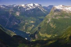 从Dalsnibba的看法 免版税库存图片