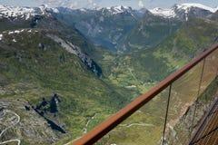 Dalsnibba-Straße 63 panoramaroad Norwegen Lizenzfreies Stockfoto