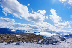 Dalsnibba und Gletscher Stockbild