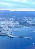 Dalt vila av den Ibiza staden royaltyfri foto