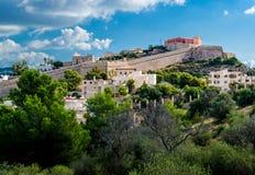 Dalt Vila av Ibiza. Spanien Fotografering för Bildbyråer