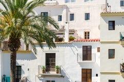 Dalt Vila Ibiza miasteczko z starymi budynkami Zdjęcie Stock
