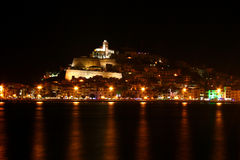 Dalt vila - ibiza at night Stock Image