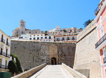 Dalt vila of Ibiza Town Stock Photo