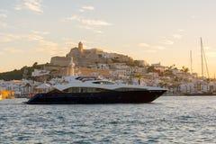 Dalt Vila from Marina Ibiza, Ibiza, Spain royalty free stock images