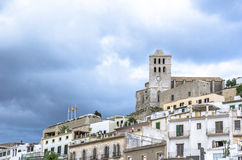 Dalt Vila medieval fortress. Ibiza island and city. Stock Image