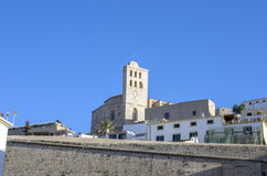 Dalt Vila medieval fortress. Ibiza island and city. Royalty Free Stock Photos