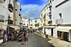 Dalt Vila, the old town of Ibiza Town, in Balearic Islands, Spai Stock Photo