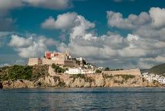 Dalt Vila van Eivissa De Balearen, Spanje Royalty-vrije Stock Fotografie