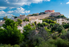 Dalt Vila von Ibiza. Spanien Stockbild