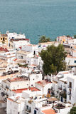 Dalt Villa. Ibiza overlooking the harbour stock photos