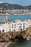 Dalt Villa. Ibiza overlooking the harbour royalty free stock image