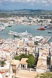 Dalt Villa. Image taken from the historic Dalt Villa overlooking the harbour of Eivissa stock photo
