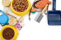 Dalta leksaker, mat och tillbehör arkivbild