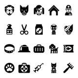 Daltar symboler, veterinärkliniksymboler och veterinär- medicin stock illustrationer