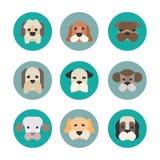 Daltar vektorsymboler - hundkapplöpningbeståndsdelar Arkivbild