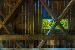 Dalton Covered Bridge. The Dalton Covered Bridge is a historic covered bridge that carries Joppa Road over the Warner River in Warner, New Hampshire Stock Image